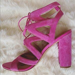 25fab1fa1d6e13 Sam Edelman Shoes - NWOB Sam Edelman Pink Suede Block Heel Sandals